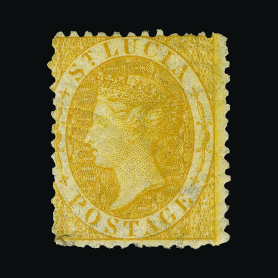 Lot 18446 - st. lucia 1864-76 -  Universal Philatelic Auctions Sale #76 worldwide Collections