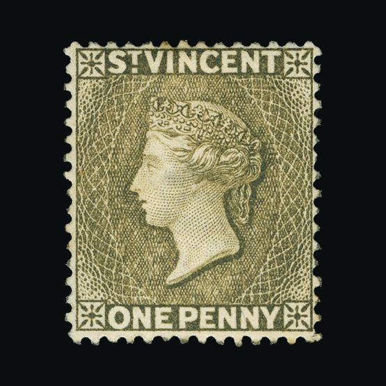 Lot 18545 - st. vincent 1882 -  Universal Philatelic Auctions Sale #76 worldwide Collections