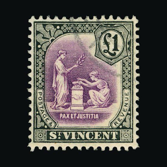 Lot 18581 - st. vincent 1913-17 -  Universal Philatelic Auctions Sale #76 worldwide Collections