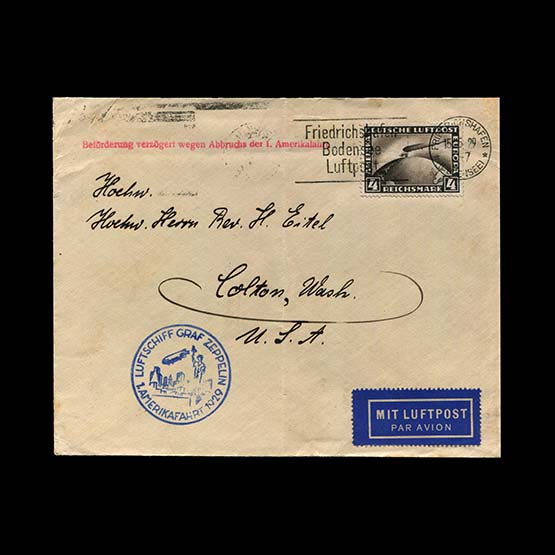 Lot 189 - General - Zeppelins/Airships 1929 -  Universal Philatelic Auctions Sale #76 worldwide Collections