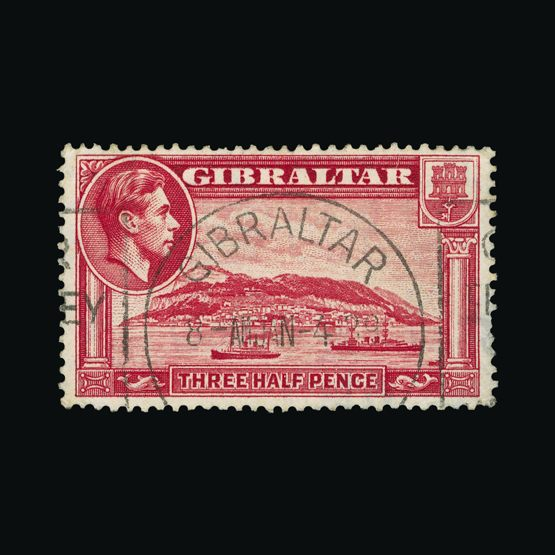 Lot 5890 - Gibraltar 1938-51 -  Universal Philatelic Auctions Sale #76 worldwide Collections