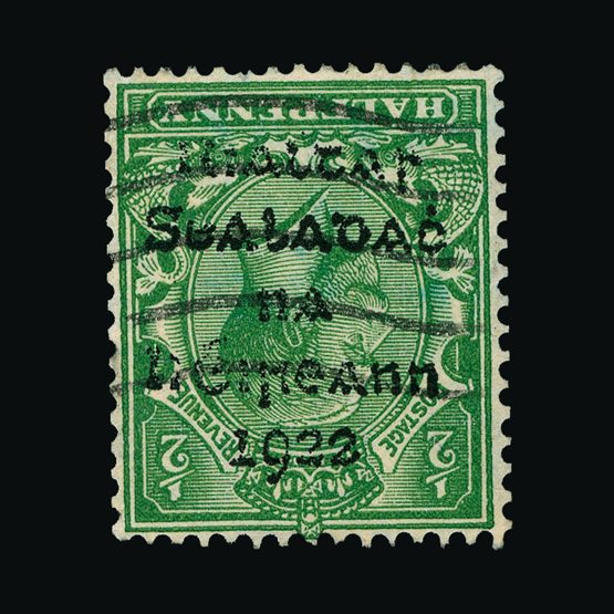 Lot 12544 - ireland 1922 -  Universal Philatelic Auctions Sale #77 worldwide Collections