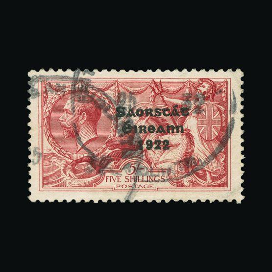 Lot 12629 - ireland 1922-23 -  Universal Philatelic Auctions Sale #77 worldwide Collections