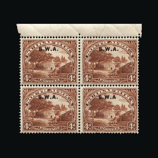 Lot 18149 - south west africa 1927-30 -  Universal Philatelic Auctions Sale #77 worldwide Collections