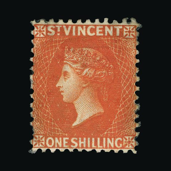 Lot 18528 - st. vincent 1883-84 -  Universal Philatelic Auctions Sale #77 worldwide Collections