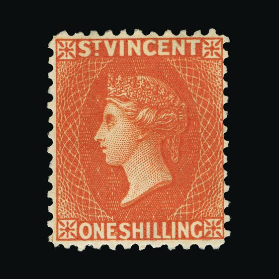 Lot 18530 - st. vincent 1883-84 -  Universal Philatelic Auctions Sale #77 worldwide Collections
