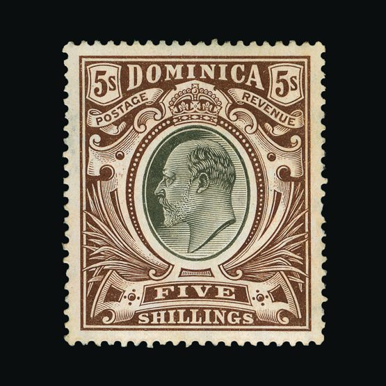 Lot 4224 - dominica 1907-08 -  Universal Philatelic Auctions Sale #77 worldwide Collections