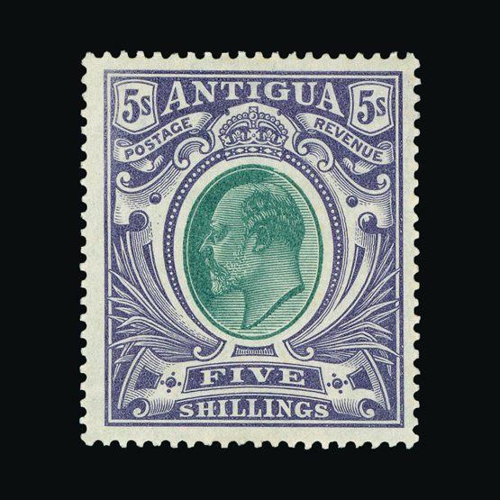 Lot 477 - antigua 1903-07 -  Universal Philatelic Auctions Sale #77 worldwide Collections