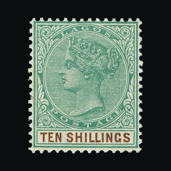 Lot 15135 - Nigeria - Lagos 1887-1902 -  Universal Philatelic Auctions Sale #78 worldwide Collections