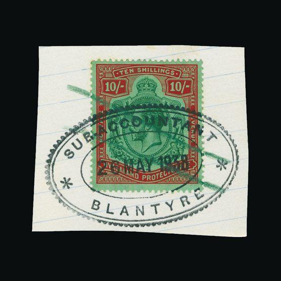 Lot 14361 - nyasaland 1921 -  UPA UPA Sale #79 worldwide Collections