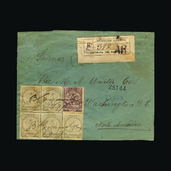 Lot 14521 - Paraguay 1907 -  UPA UPA Sale #79 worldwide Collections