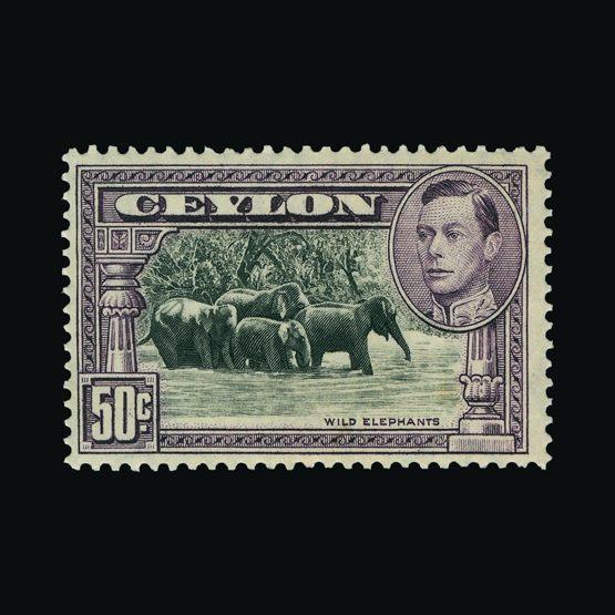Lot 3135 - Ceylon 1938-49 -  UPA UPA Sale #79 worldwide Collections