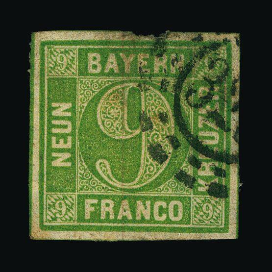 Lot 5469 - german states - bavaria 1850-58 -  UPA UPA Sale #79 worldwide Collections