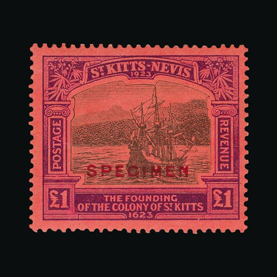 Lot 18878 - st. kitts and nevis 1923 -  UPA UPA Sale #80 worldwide Collections