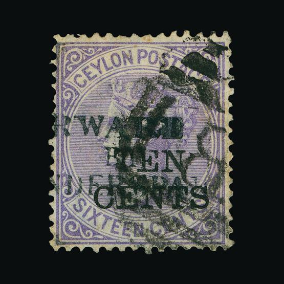 Lot 3034 - Ceylon 1885 -  UPA UPA Sale #80 worldwide Collections