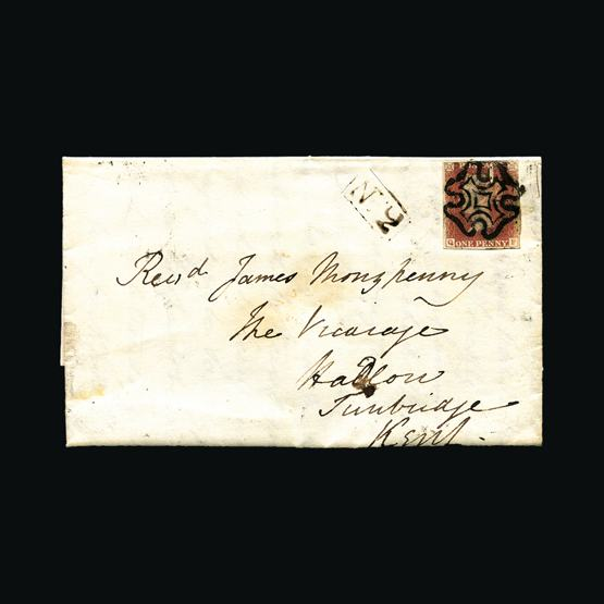 Lot 6813 - Great Britain - QV (line engraved) - Imperforate 1d Red Plated 1841 -  UPA UPA Sale #80 worldwide Collections