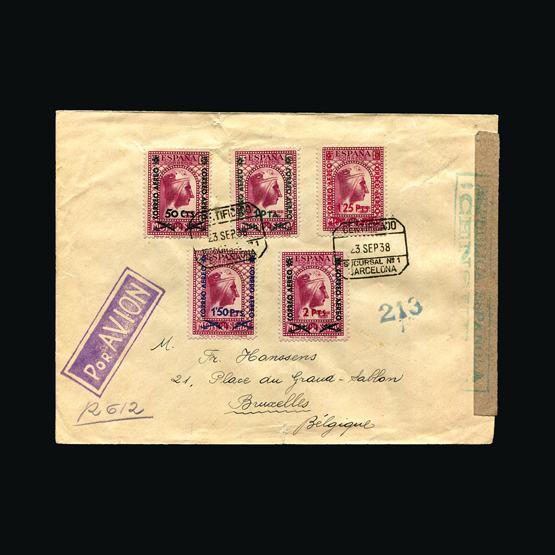 Lot 18501 - Spain 1938 -  UPA UPA Sale #82 worldwide Collections
