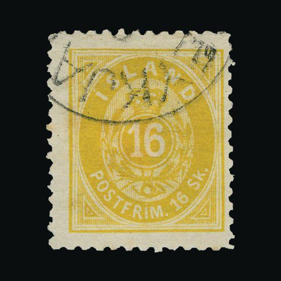 Lot 11977 - Iceland 1873 -  UPA UPA Sale #83 worldwide Collections