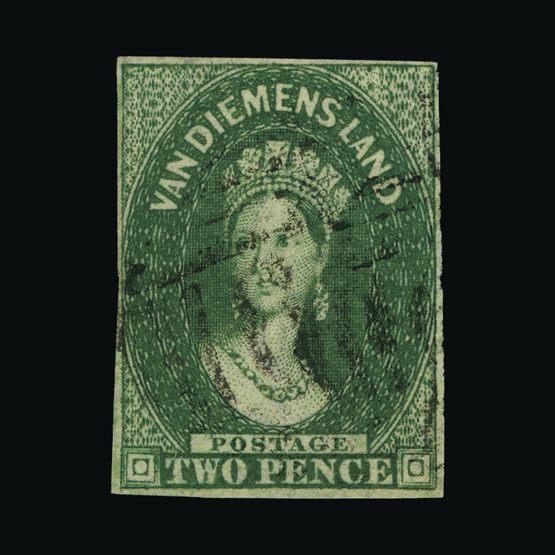 Lot 1705 - Australia - States - Tasmania 1855-56 -  UPA UPA Sale #83 worldwide Collections