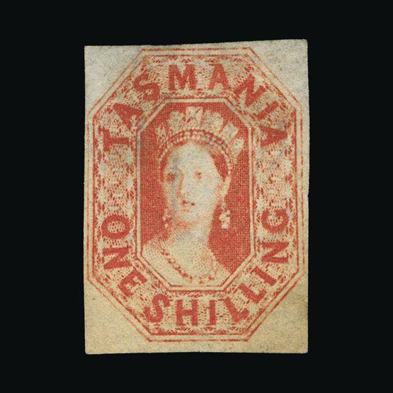 Lot 1708 - Australia - States - Tasmania 1858 -  UPA UPA Sale #83 worldwide Collections