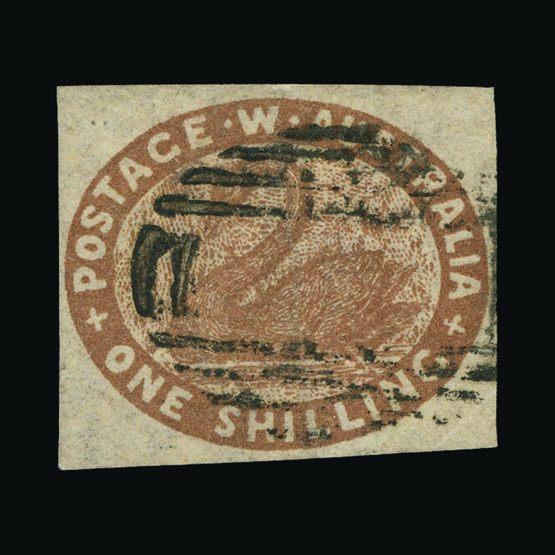 Lot 1735 - Australia - States - Western Australia 1854-55 -  UPA UPA Sale #83 worldwide Collections