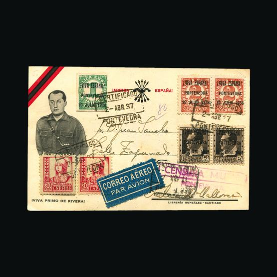 Lot 19002 - spain - civil war issues 1937 -  UPA UPA Sale #83 worldwide Collections