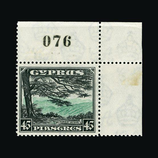 Lot 5630 - Cyprus 1934 -  UPA UPA Sale #83 worldwide Collections