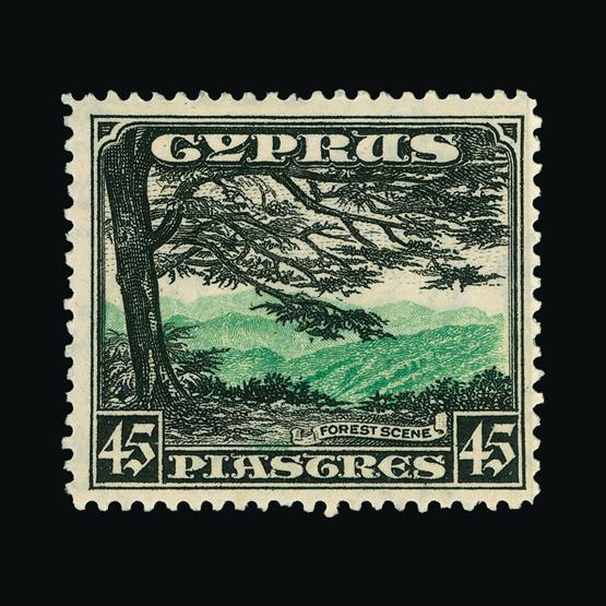 Lot 5633 - Cyprus 1934 -  UPA UPA Sale #83 worldwide Collections